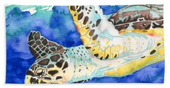 Hawksbill Sea Turtle Bath Towel