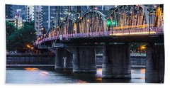 Hawthorne Bridge Portland Oregon Bath Towel
