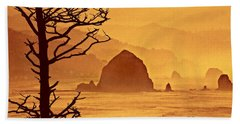 Bath Towel featuring the photograph Haystack Burnt Sienna by Wendy McKennon