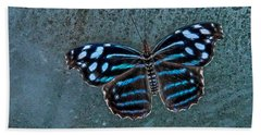 Hdr Butterfly Bath Towel by Elaine Malott