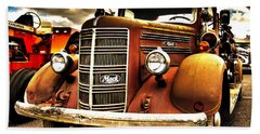 Hdr Fire Truck Bath Towel