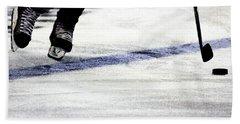 He Skates Hand Towel by Karol Livote