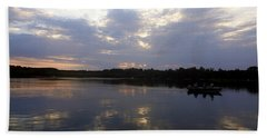 Heading Home On Lake Roosevelt In Outing Minnesota Bath Towel