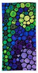 Healing Light - Mosaic Art By Sharon Cummings Hand Towel