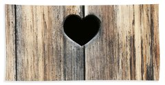 Hand Towel featuring the photograph Heart In Wood by Brooke T Ryan