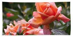 Heart Of Gold Roses Bath Towel