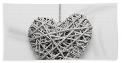 Heart Ornament Hand Towel