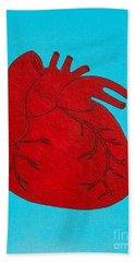 Heart Red Bath Towel