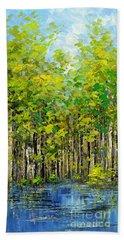 Hand Towel featuring the painting Heat Of Summer by Tatiana Iliina