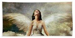 Heavenly Hand Towel by Linda Lees