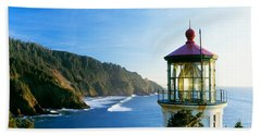 Heceta Head Lighthouse, Florence Bath Towel