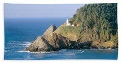 Heceta Lighthouse, Oregon Hand Towel