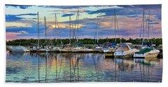 Hecla Island Boats Bath Towel