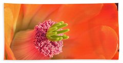 Hand Towel featuring the photograph Hedgehog Cactus Flower by Deb Halloran
