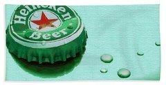 Heineken Cap Green Bath Towel