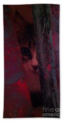 Hand Towel featuring the photograph Helping In The Art Studio by Jacqueline McReynolds