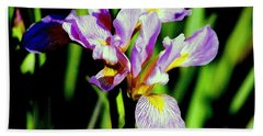Bath Towel featuring the photograph Iris Her Queen Majesty by Michael Hoard