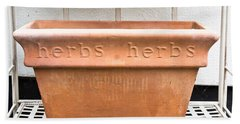 Herbs Container Hand Towel