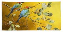 Here Comes The Sun - Rainbow Bee-eaters Hand Towel