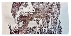 Polled Hereford Bull  Bath Towel by Larry Campbell