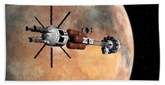 Hand Towel featuring the digital art Hermes1 Mars Insertion Part 1 by David Robinson