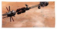 Hermes1 Over Mars Bath Towel by David Robinson