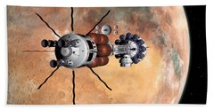 Hermes1 Realign Orbital Path Hand Towel by David Robinson