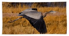 Hand Towel featuring the photograph Heron  #5811 by J L Woody Wooden
