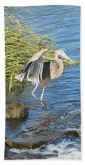 Heron Dance Bath Towel by Karen Silvestri