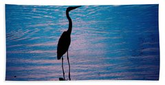 Herons Moment Bath Towel