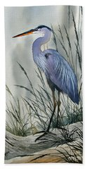 Herons Sheltered Retreat Bath Towel by James Williamson