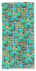 Hibiscus Blue Water Bath Towel