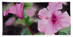 Hibiscus - So Pretty In Pink Bath Towel by Sher Nasser