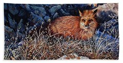 Hand Towel featuring the painting Hide And Seek by Craig T Burgwardt