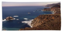 High Angle View Of A Coastline, Big Hand Towel