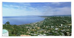High Angle View Of A Town, La Jolla Hand Towel
