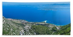 High Angle View Of The Hvar Island Hand Towel