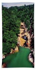 High Angle View Of The Tallulah Gorge Bath Towel
