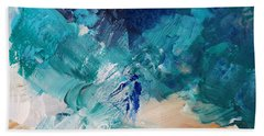 High As A Mountain- Contemporary Abstract Painting Bath Towel