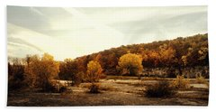 Hand Towel featuring the photograph High Cliff State Park by Joel Witmeyer