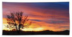 Bath Towel featuring the photograph High Desert Sunset by Kevin Desrosiers