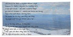High Flight Hand Towel by Paulette B Wright