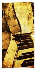 High On Music Bath Towel by Randi Grace Nilsberg