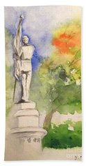 Highland Cemetery-plein Air-ypsilanti Michigan 1 Hand Towel by Yoshiko Mishina