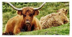 Highland Cows Bath Towel