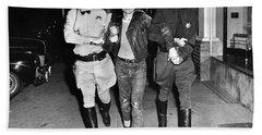 Highway Patrolmen And Police Officer Hollister July 7 1947 Bath Towel