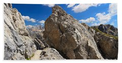 hike in Dolomites Bath Towel by Antonio Scarpi