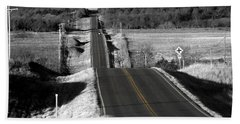 Hand Towel featuring the photograph Hilly Ride by Brian Duram