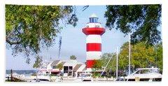 Hilton Head Lighthouse And Marina Hand Towel