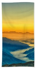 Himalaya In The Morning Light Hand Towel by Ulrich Schade